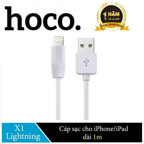 Cáp sạc Lightning Hoco X1 cho iPhone,iPad dài 1M - Hãng Phân Phối Chính Thức - 8946273 , 18567674 , 15_18567674 , 50000 , Cap-sac-Lightning-Hoco-X1-cho-iPhoneiPad-dai-1M-Hang-Phan-Phoi-Chinh-Thuc-15_18567674 , sendo.vn , Cáp sạc Lightning Hoco X1 cho iPhone,iPad dài 1M - Hãng Phân Phối Chính Thức