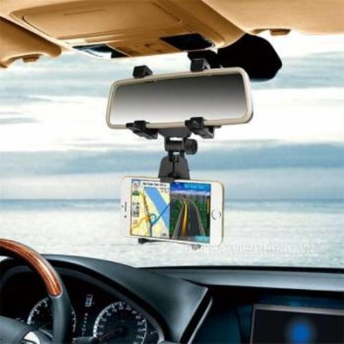 kẹp điện thoại trên kính hậu xe hơi