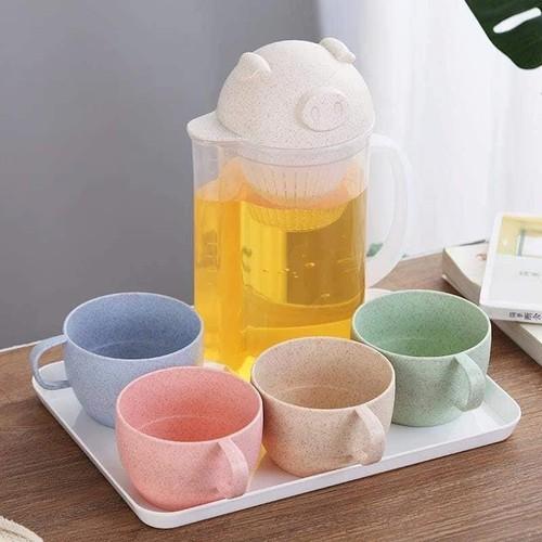 Bộ bình trà kèm 4 cốc lúa mạch hình lợn 1,6l, - 8937595 , 18555823 , 15_18555823 , 99000 , Bo-binh-tra-kem-4-coc-lua-mach-hinh-lon-16l-15_18555823 , sendo.vn , Bộ bình trà kèm 4 cốc lúa mạch hình lợn 1,6l,