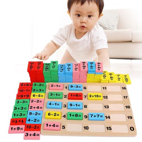 Bộ đồ chơi Domino học toán cho bé