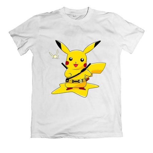 Áo thun in hình ngộ nghĩnh về pikachu