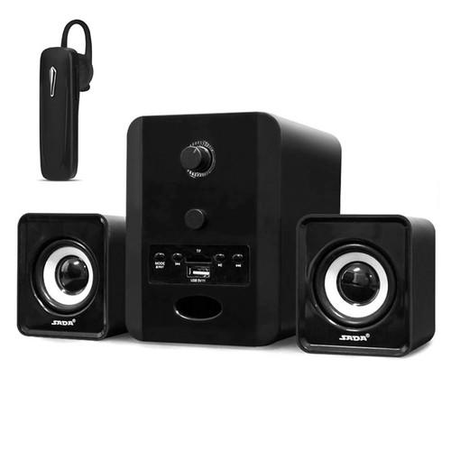 Bộ 3 Loa Máy Tính SADA D-223 Hỗ Trợ Bluetooth, USB, Thẻ Nhớ, Jack 3.5 + Tặng Tai Nghe Bluetooth Nhét Tai
