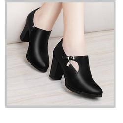 [LN1687] Giày boot thời trang nữ khoét hình bán nguyệt - LINUS