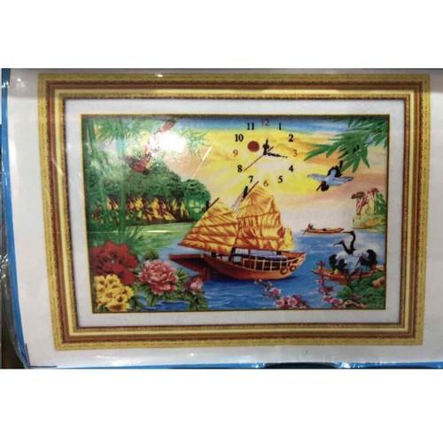 tranh đính đá Thuận Buồm Xuôi Gió YN5124 kt 76x53cm
