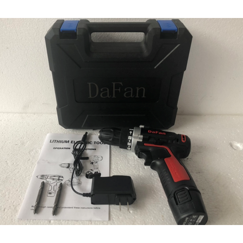 máy khoan PIN 12V cầm tay DaFan khoan tôn,khoan sắt,khoan gỗ,đảo chiều