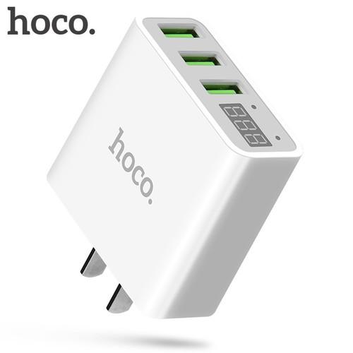 Củ sạc nhanh Hoco C15 3 cổng usb có Báo cường độ và LED - BH 6 Tháng