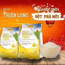 Combo Hạt Ngọc Trời Thiên Long 25kg - gạo trắng hạt dài dẻo ít mềm thơm cơm - túi 5kg x 5