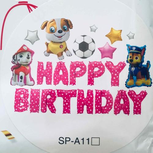 sét trang trí sinh nhật CHÓ HỒNG như hình có tặng phụ kiện