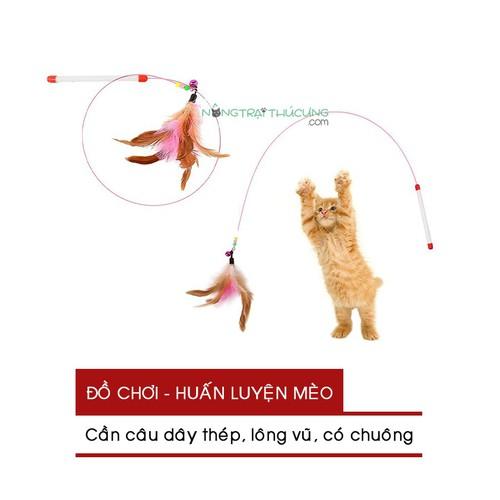 Đồ chơi Cho Mèo - Cần Câu Mèo - Dây Thép Lông Vũ Có Chuông - 8961349 , 18590338 , 15_18590338 , 26000 , Do-choi-Cho-Meo-Can-Cau-Meo-Day-Thep-Long-Vu-Co-Chuong-15_18590338 , sendo.vn , Đồ chơi Cho Mèo - Cần Câu Mèo - Dây Thép Lông Vũ Có Chuông