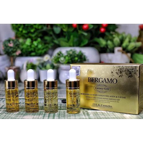 Tinh Chất Chống Lão Hoá, Ngăn Ngừa Mụn Bergamo Luxury Gold