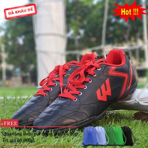 Giày đá bóng Prowin FX đen - nhà phân phối chính từ hãng - tặng kèm Balo rút đựng giày