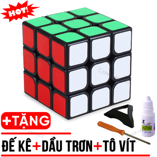 Rubik 3x3 Viền Đen