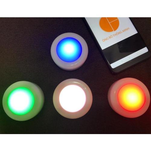 Led trang trí đa sắc có remote Bộ 3 bóng LED