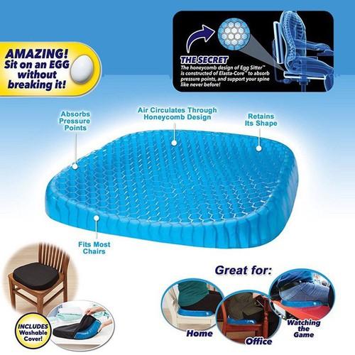 Đệm Gel ghế ngồi Egg Sitter magic cushion lưới 3d thoáng khí