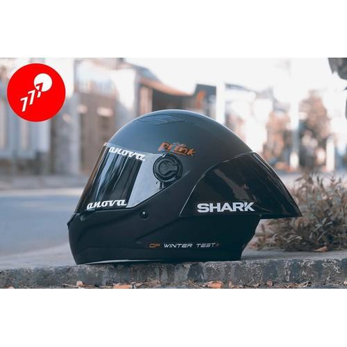 Mũ Bảo Hiểm Fullface GXT Đen Nhám Tặng kèm Đuôi gióshark Bảo hành 12 tháng