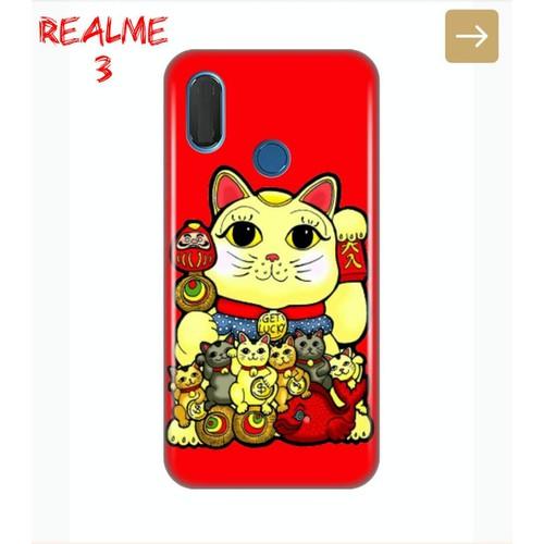 Ốp Lưng Realme 3 Mèo Thần Tài 2019 8 Màu