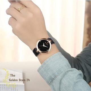 đồng hồ nữ dây da - đồng hồ nữ dây da Sm502 thumbnail