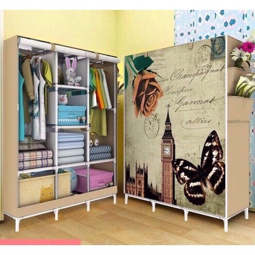 tủ vải lớn 3 buồng 8 ngăn