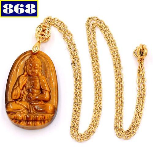 Dây chuyền Phật A Di Đà mắt hổ 3.6 DIVMHB7