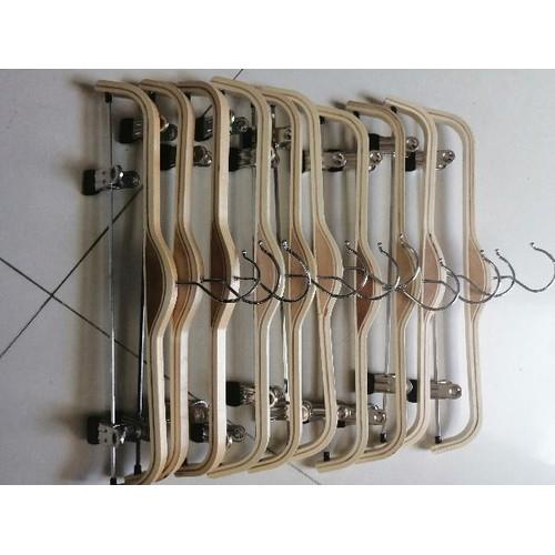 Bộ 10 móc treo gỗ kẹp inox cap cấp