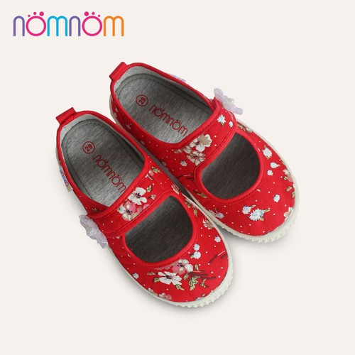 Giày búp bê cho bé gái quai dán NomNom EPG19014 Đỏ