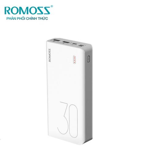 Pin sạc dự phòng Romoss Sense 8 Plus 30.000mAh sạc nhanh 2 chiều với cổng Type-C - Hãng phân phối chính thức