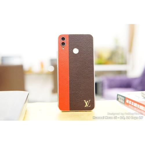 Miếng dán skin da Huawei Nova 3i - ghép 2 sọc Đỏ, Nâu - D6,D9