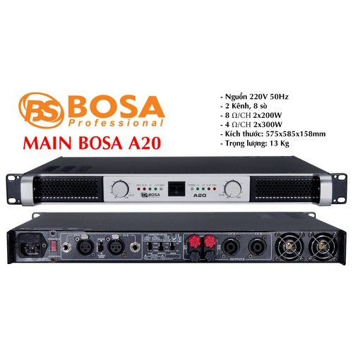 Main 2 kênh Bosa XS3500