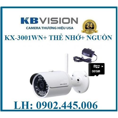 CAMERA WIFI KHÔNG DÂY 3MP KX-3001WN