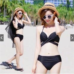 Bộ Đồ Bơi Bikini Đi Biển Nữ 2 Mảnh Cao Cấp