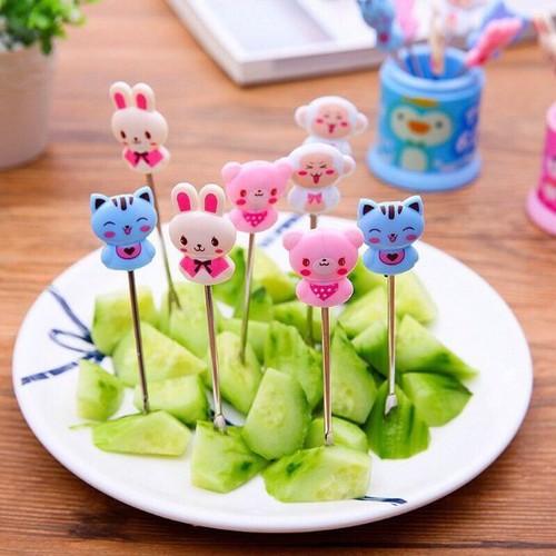 bộ 8 nĩa ăn hoa quả hình thú