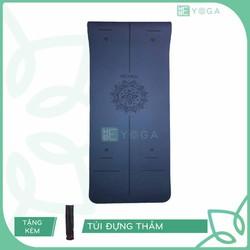 Thảm Tập Yoga TPE Định Tuyến 6mm 2 Lớp Cao Cấp Kèm Túi