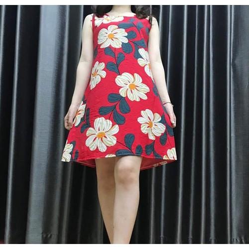 Váy đũi hoa suông