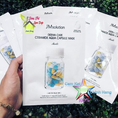 Mặt Nạ Phục Hồi Da JM Solution Derma Care Ceramide Aqua Capsule Mask Medi