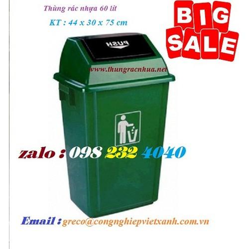 Thùng rác nhựa nắp bập bênh HDPE 60 lít - 8968800 , 18602498 , 15_18602498 , 320000 , Thung-rac-nhua-nap-bap-benh-HDPE-60-lit-15_18602498 , sendo.vn , Thùng rác nhựa nắp bập bênh HDPE 60 lít