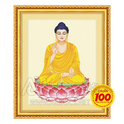Tranh thêu chữ thập Phật Tổ kt 75*62cm