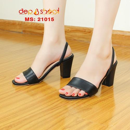 Gìay cao gót size lớn- giày cao size nhỏ- giày sandal hậu thun màu đen size 33 đến size 43