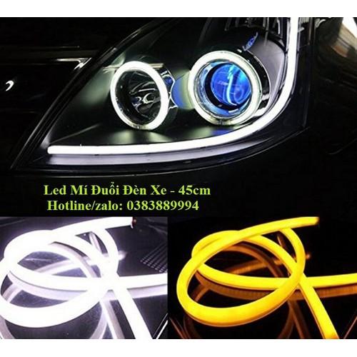Bộ led dây độ mí mắt ngoài xe ô tô 2 in 1 60cm chạy đuổi
