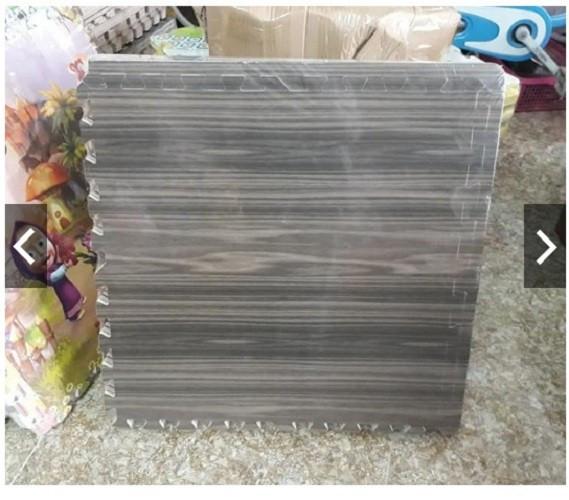 Bộ 6 Miếng Thảm Xốp Ghép Màu Vân Gỗ Sậm Kích Thước 60x60cm