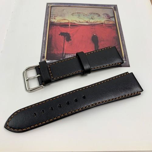 Dây da đồng hồ - màu đen - da bò xịn - đồ da thủ công DT299