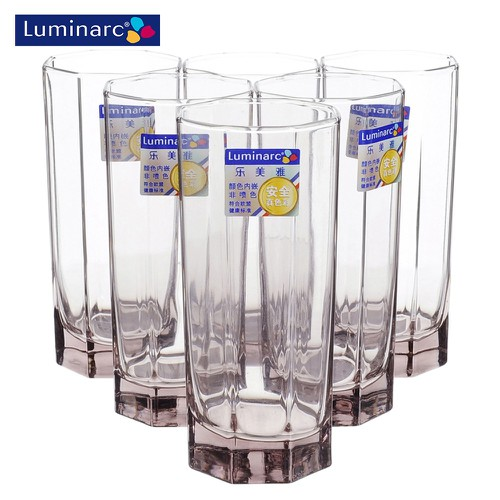 Bộ 6 ly thủy tinh cao Luminarc Octime Ice Pink 320ml J5849