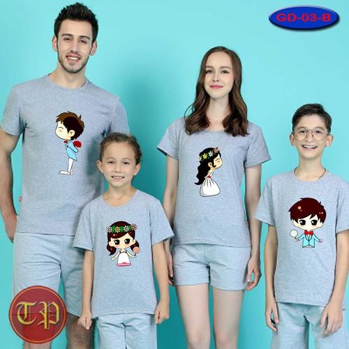 Combo 4 áo gia đình GD - 010