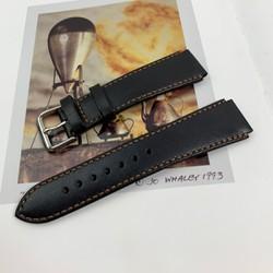 Dây đồng hồ da bò nam - Màu đen, da bò nhập khẩu - Sản phẩm handmade DT301