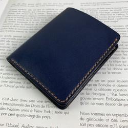 Ví nam - da bò xịn - màu xanh navy thời trang - handmade DT308