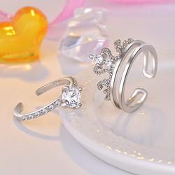 Nhẫn nữ vương miện đính đá sáng bạc 925 Silver – Trang sức nữ