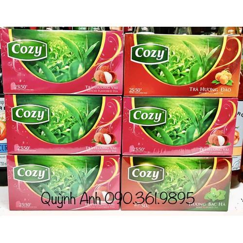 Trà đào Cozy túi lọc hộp 25 túi - 8978675 , 18618102 , 15_18618102 , 28000 , Tra-dao-Cozy-tui-loc-hop-25-tui-15_18618102 , sendo.vn , Trà đào Cozy túi lọc hộp 25 túi