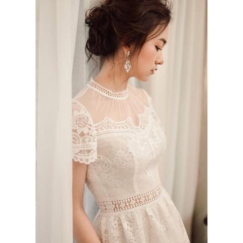 Đầm váy dự tiệc đẹp tinh tế, đầm ren trắng dáng xòe - CHIPI - 4996339 , 18619155 , 15_18619155 , 380000 , Dam-vay-du-tiec-dep-tinh-te-dam-ren-trang-dang-xoe-CHIPI-15_18619155 , sendo.vn , Đầm váy dự tiệc đẹp tinh tế, đầm ren trắng dáng xòe - CHIPI