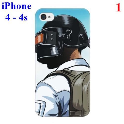 Ốp lưng iPhone 4 - 4s hình Game Sinh tồn PUBG