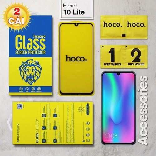 Combo 2 Kính cường lực Huawei Honor 10 Lite Full Hoco đen