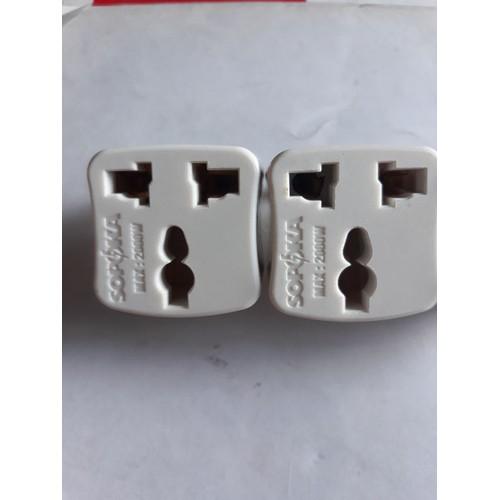 Combo 2 phích cắm điện chuyển từ 3 chân ra 2 chân